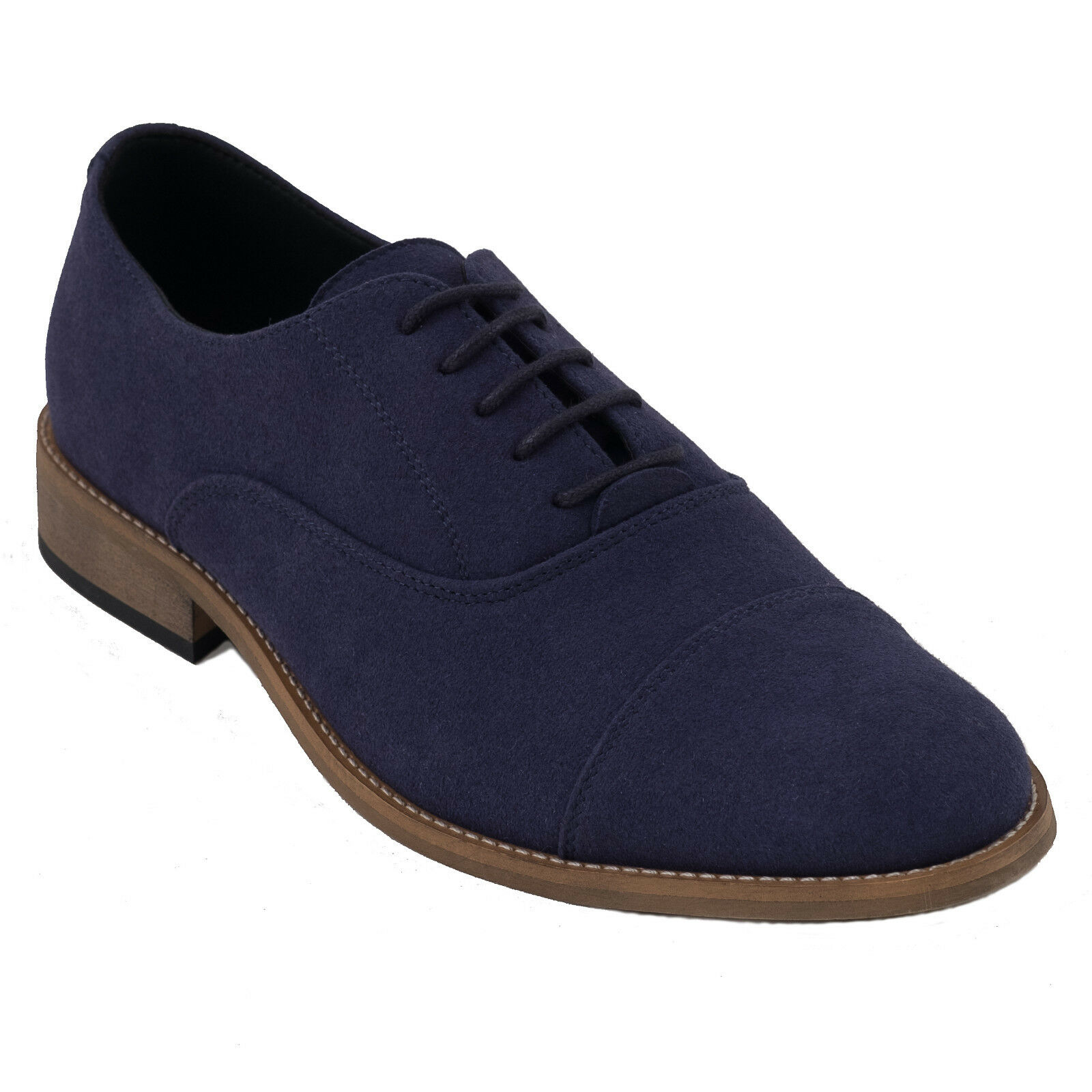 Man vegan shoes & oxford blue made on ecological & shoes breathable micro-suede e6ab67