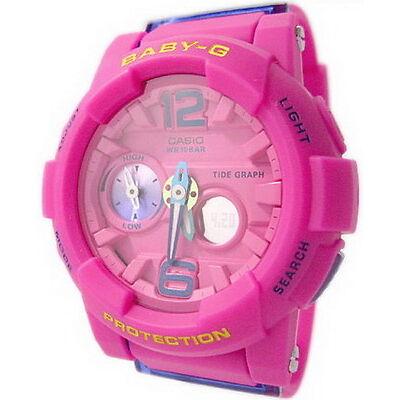 Casio Baby-G Tide Graph World Time Ladies Watch BGA-180-4B3