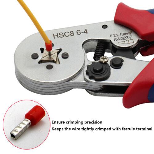 0.25-10mm2 Self Adjusting Crimper Crimping Plier Wire Terminal End Sleeves Tool
