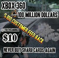 Shark Cards Gta 5 100 Million (xbox 360 Only) Christmas Deal (contact Me)