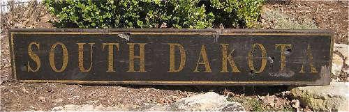 SOUTH DAKOTA - Rustic Hand Painted Wood Sign
