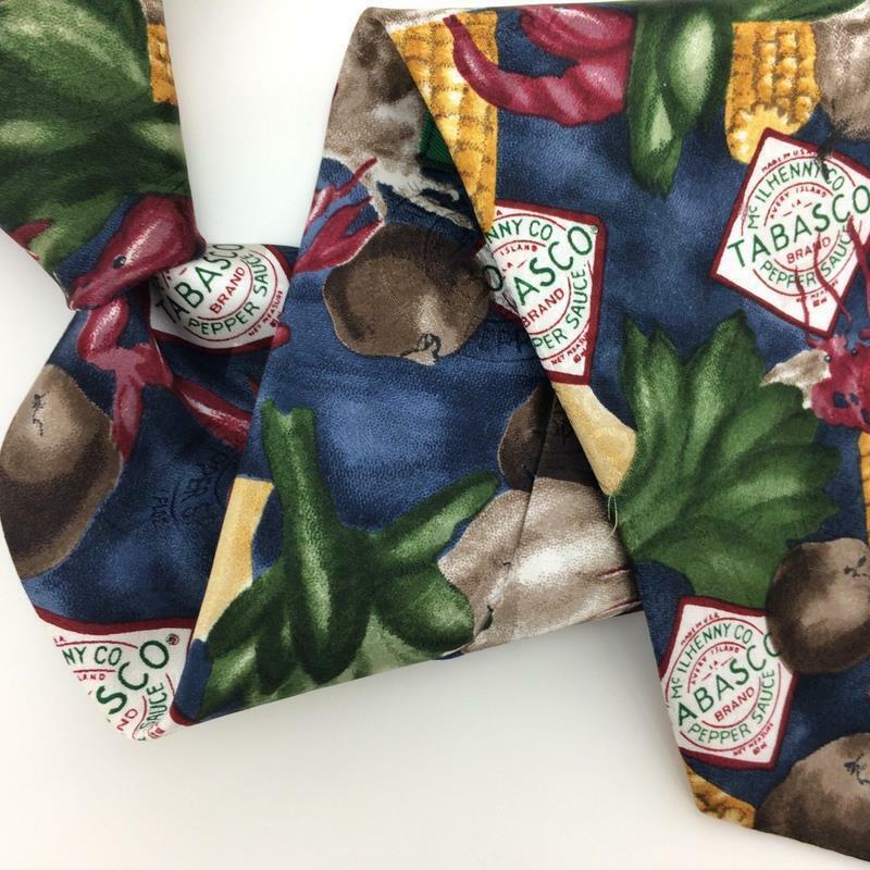 TABASCO USA Tie Corn Shrimps Vegetables Green Gra… - image 2