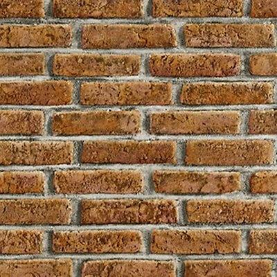 Tapete PS Kitchen & Bath Mauer 06642-80 Steine Steinoptik rot braun