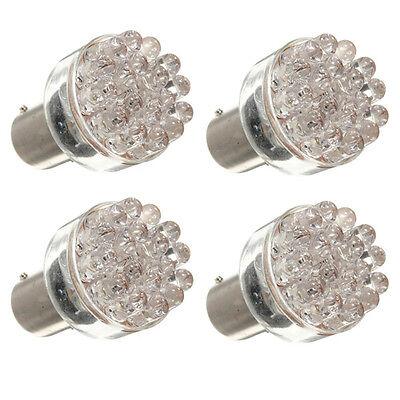 4X 24 LED BAY15D 1157 2057 Car Side Tail Turn Brake Rear White Light Bulb Lamp