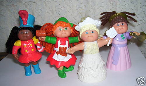 Cabbage Patch Kids Figures 1994 McDonald's Set of 4 CPK