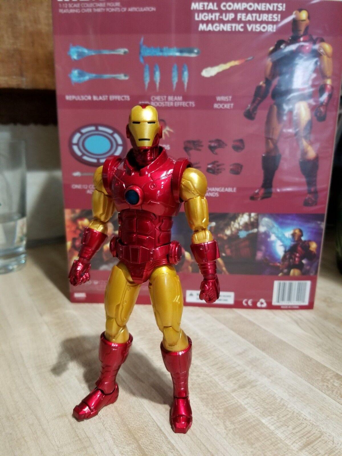 Mezco iron man  12 die action - - - figur 022966