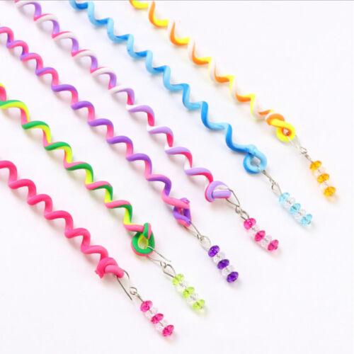 Hot 6 Pcs Kids Curler Hair Braid Hair Sticker Baby Girls Decor Hair Accesories #