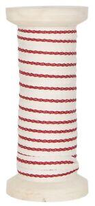 IB-Laursen-Band-Baumwollband-m-lang-mit-Spule-rot-Streifen-25-m