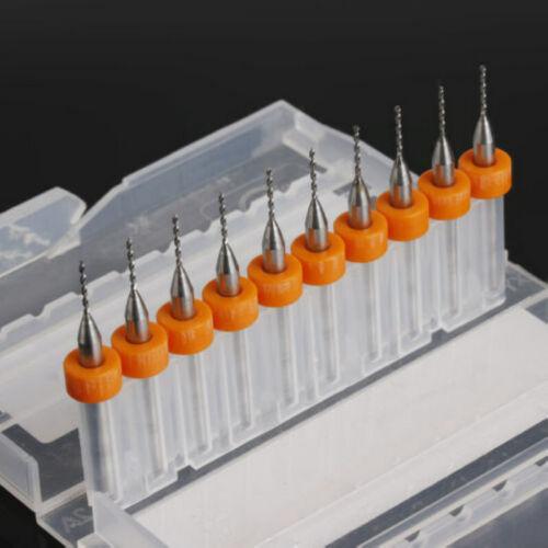 10pcs 0.8mm Print Circuit Micro Drill Bit Board Carbide for PCB CNC Engraving