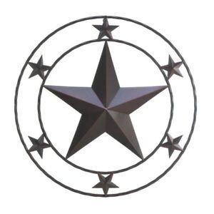 Image Is Loading Rustic Metal Texas Star Wall Plaque Indoor Outdoor