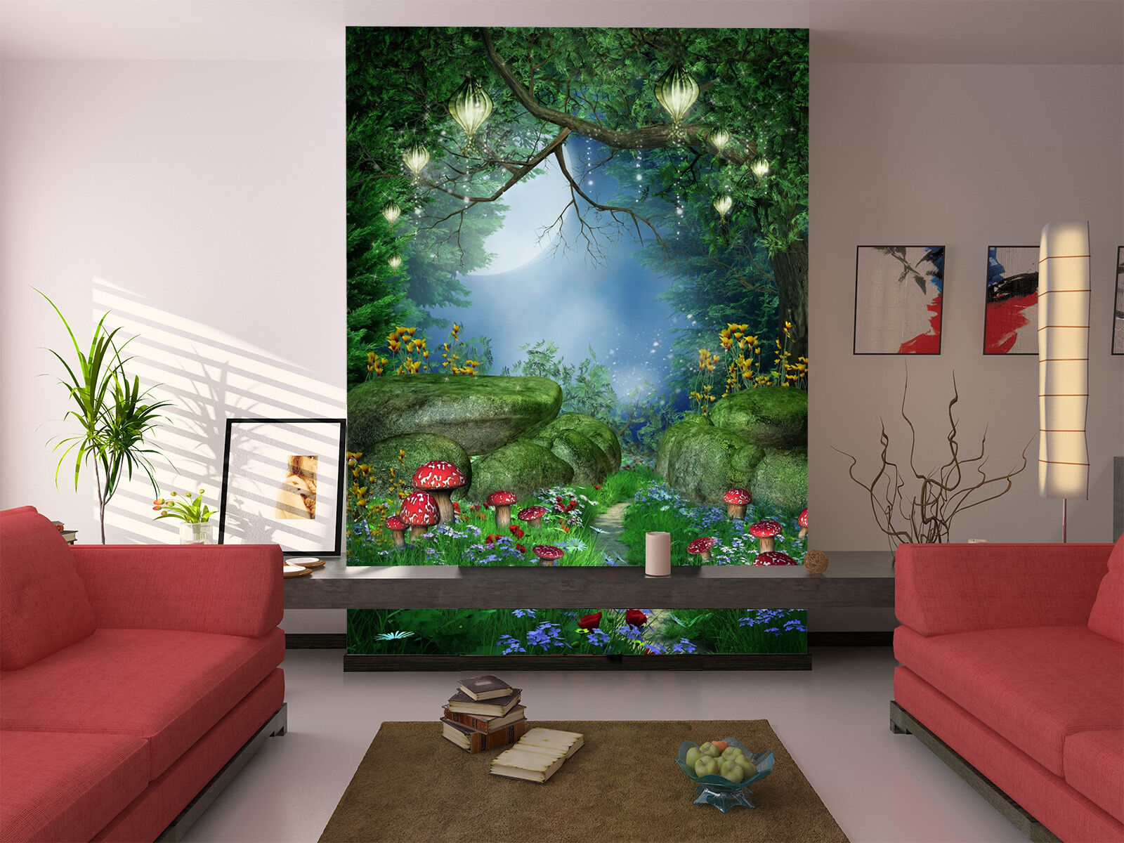 3D Night Forest 501 Wall Paper Wall Print Decal Wall Deco Indoor AJ Wall Paper