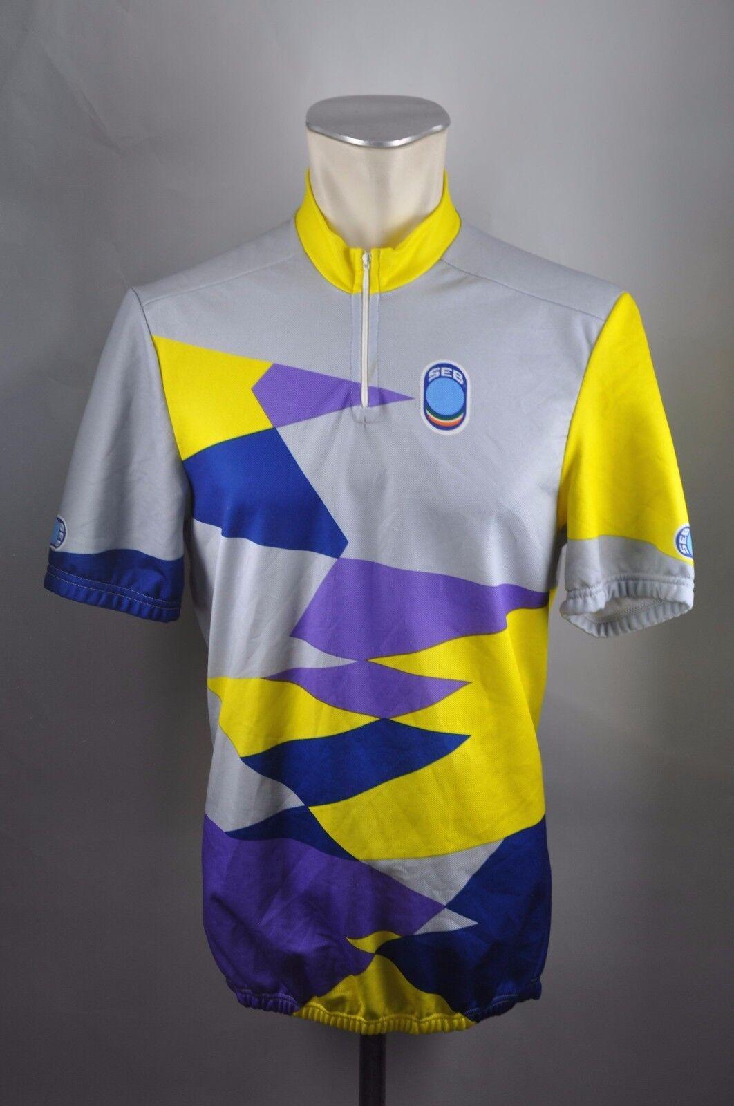 Seb vintage cycling jersey Fahrrad Bike Rad Rad Rad Trikot XL XXL 56cm U8 cd6167