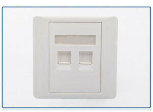 RJ45 Cat5e FACEPLATES Single//Double Gang Electrical Outlet Socket Network Cable