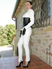 Ledercatsuit Leder Catsuit Weiß Anzug Overall Maßanfertigung