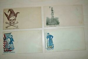 Confederate States: Nice lot with 4 interesting unused covers/envelop