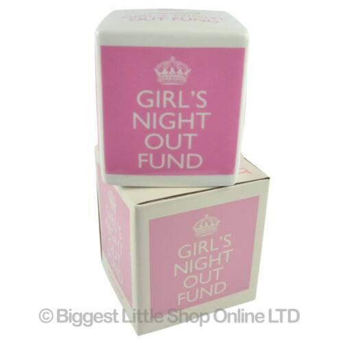 GIRLS NIGHT OUT Large Ceramic CUBE Money Box by Leonardo Gift Boxed Piggy Bank