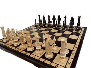 Schach - EIN EDEL SCHACHSPIEL HOLZ MIT MESSING Chess GESCHENKIDEE SONDERANGEBOT