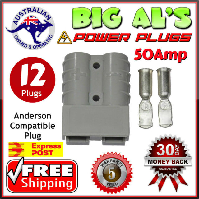 12 X 50Amp DC Power Battery Connector Anderson Style Plug 12v 24v EXPRESS POST