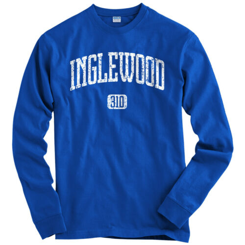 Men Youth Inglewood 310 Los Angeles Long Sleeve T-shirt LS The Wood Lakers