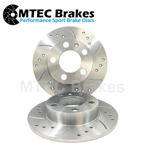 BMW E34 535 Rear Solid Drilled Brake Discs 88-94