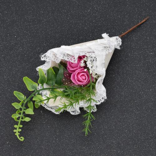 Brosche Braut Bräutigam Boutonniere Ansteckblume für Hochzeit Männer Anzug Deko