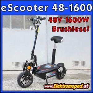 Elektro-Scooter Brushless Modell 48-1600 Modell 2019 48V 1600W Bürstenlos Motor