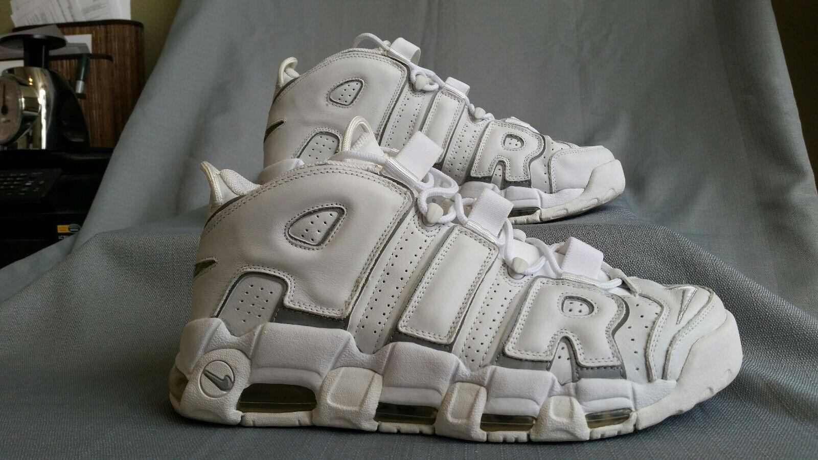 NIKE AIR MORE UPTEMPO B White 2002 Pippen shoes 303904-101 Size 12 Men's RARE