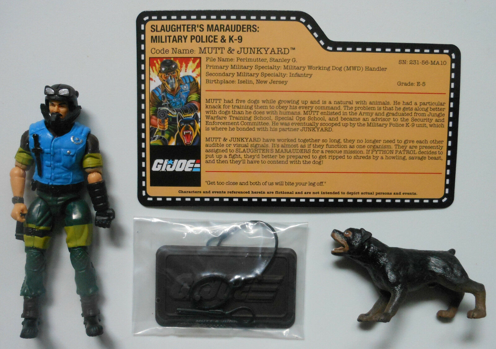 MUTT & JUNKYARD GI Joe Convention 2018 Exclusive Boxed Set Loose Mint Complete