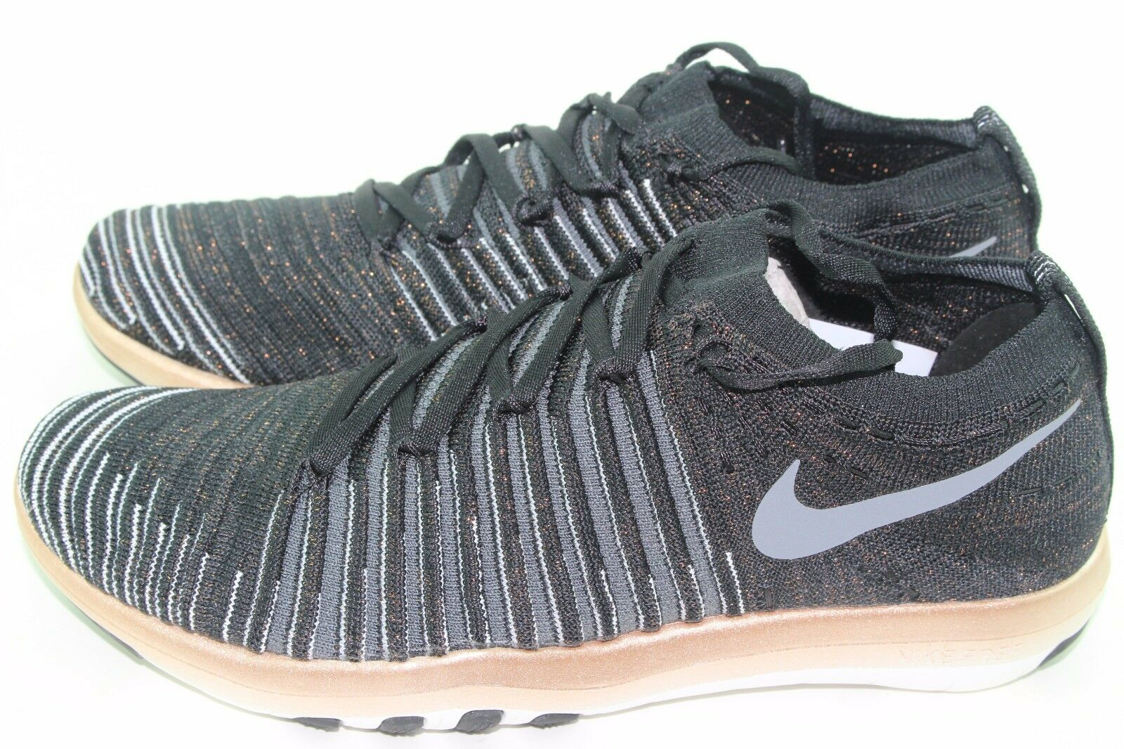 NIKE FREE TRANSFORM FLYKNIT WOMEN SIZE 11.0 BLACK COOL COOL COOL GREY NEW TRAINING LEGIT 41166c