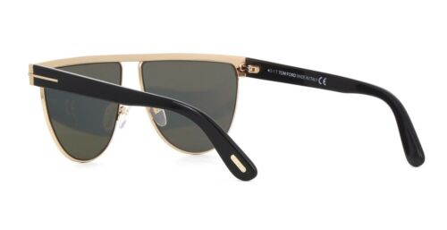 Tom Ford STEPHANIE-02 FT 0570 shiny rose gold//grey mirror 28C Sunglasses