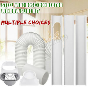 Details about Pipe Exhaust Hose Tube / Window Adaptor/3Pcs Slide Kit Plate  For Air Conditioner