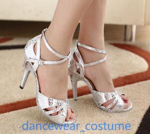 Ladies Waltz Party Ballroom Latin Tango Modern Jazz Salsa Dance Heels Shoes U5-9