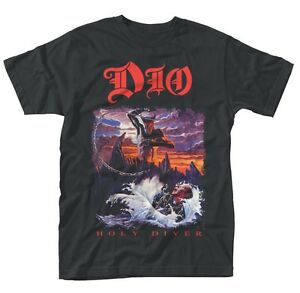 Image is loading DIO-Holy-Diver-Album-Official-T-shirt-All-