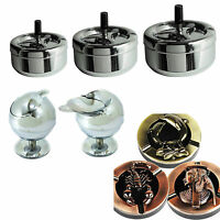Amazing Steel Ashtray Cigarette Ashtray Odour Free Spinning Ashtray