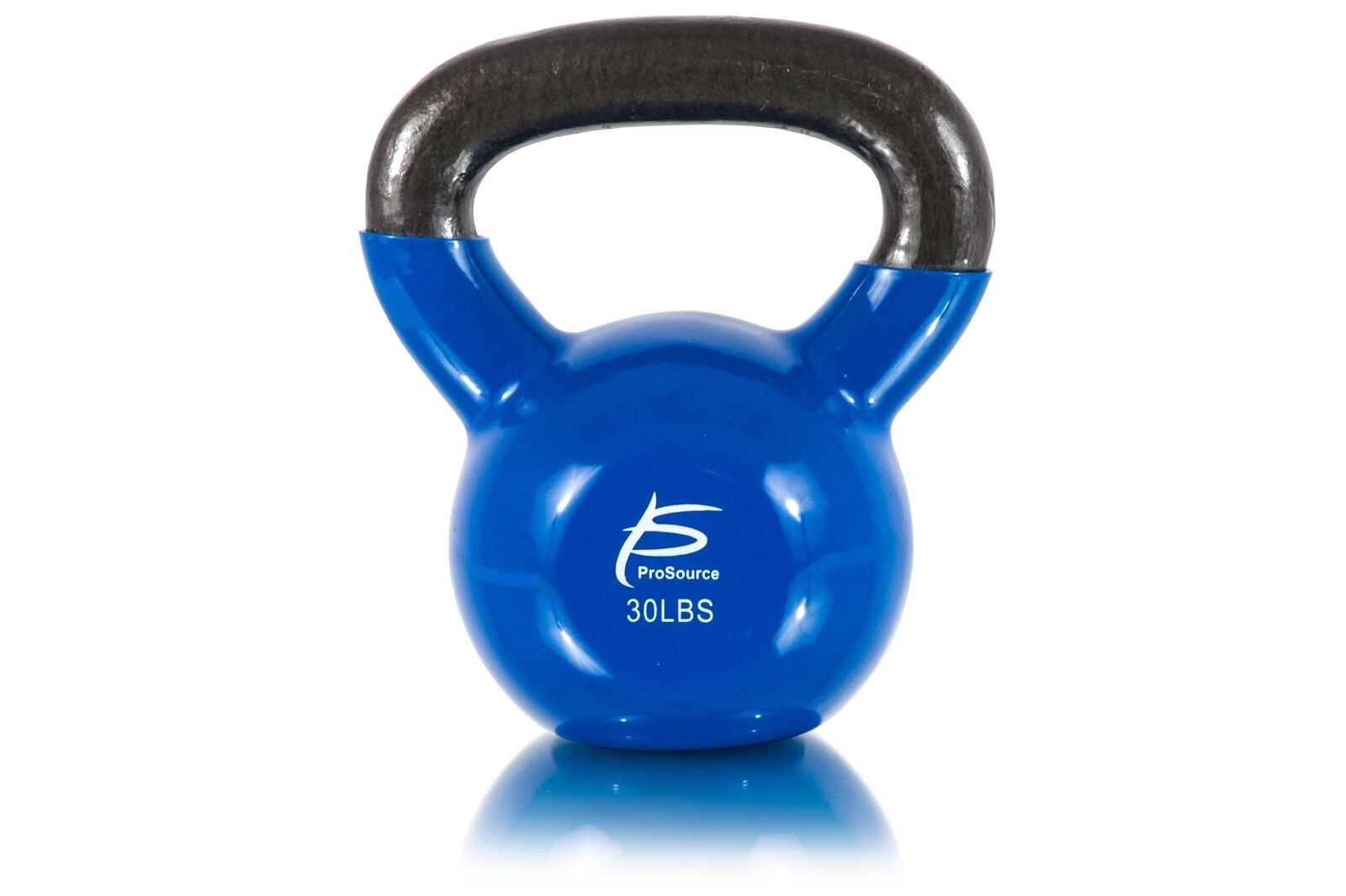 ProSource Vinyl Coated Cast Iron Kettlebells ColoreeCoded 5 to 45 lb. with Ext...