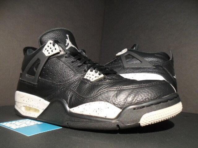NIKE AIR JORDAN IV 4 RETRO LS OREO schwarz COOL TECH grau CEMENT OG 314254-003 12