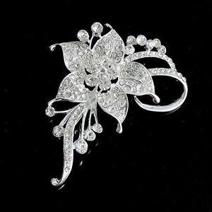 gaspiller pas d 39 argent strass cristal de mariage broche fleur bouquet sexy bgf ebay. Black Bedroom Furniture Sets. Home Design Ideas