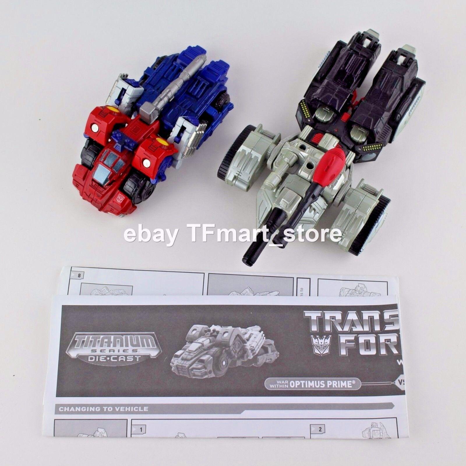 Transformers Titanio 6   Serie Guerra dentro Optimus Prime Vs.Megatron