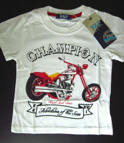 Weiß * Motorrad * T-Shirt * 134//140 * Fb Bike r Shirt für Champions * Gr