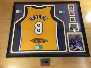 9654a1617 Image is loading Framed-Kobe-Bryant-Los-Angeles-Lakers-Autographed-Jersey-