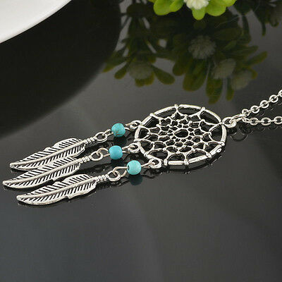 Retro Womens Dream Catcher Pendant Long Chain Necklace Sweater Jewelry Gifts