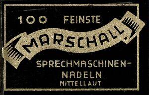 100-NEUE-Grammophonnadeln-034-mittellaut-034-im-original-MARSHALL-Tuetchen