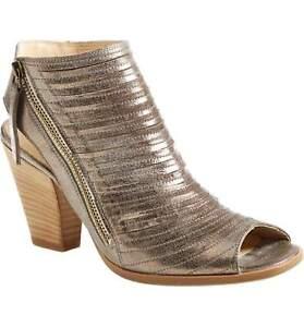 e167d64897f  350 PAUL GREEN Cayanne Leather Peep Toe Sandal BOOTIE SMOKE LEATHER ...