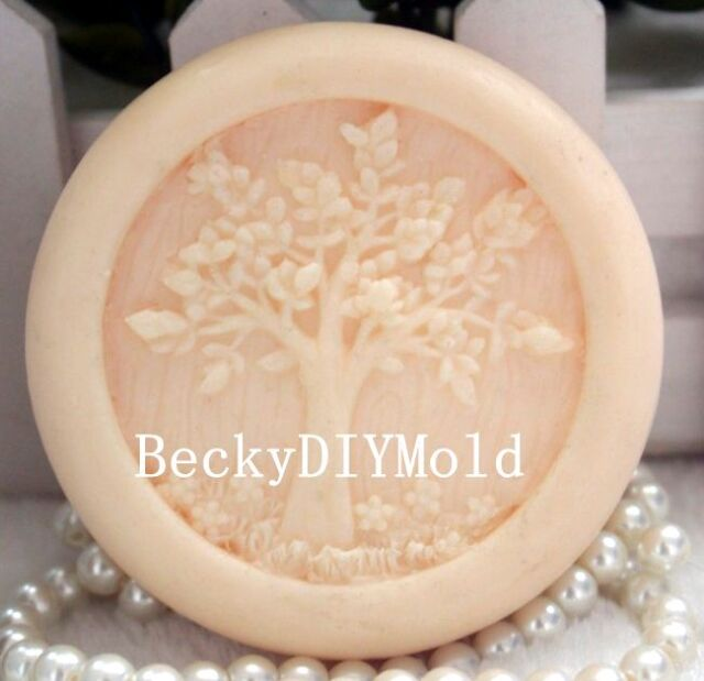 1pcs Life Tree (zx49) Silicone Handmade Soap Molds Crafts DIY Moulds