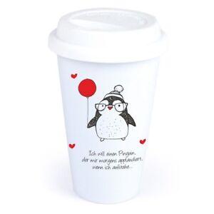 Coffee To Go Becher Pinguin Lustig Geburtstag Mann Frau Ebay