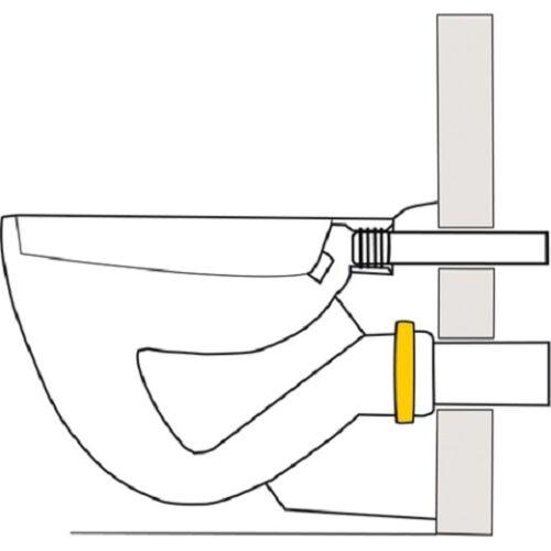 Stülpdichung-Lippendichtung Anschlußgarnitur 3154 DN110 Dichtung Haas WC-Gummi