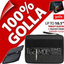 """New Golla Tablet Sleeve Bag Padded Carry Case With Stand Fits 10.1"""" Ipad 3 / 4"""