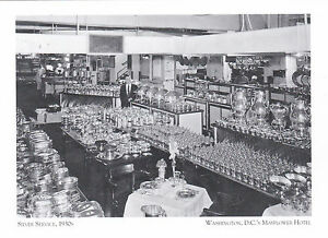 Postcard-034-Silverware-Service-034-1930-s-Washington-039-s-DC-Mayflower-Hotel-A89-2
