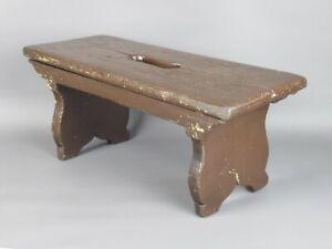 Antique-Stool-Wooden-Footstool-Feet-Period-End-XIX-Century