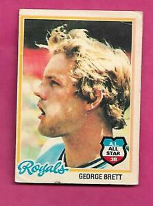 RARE-1978-OPC-215-ROYALS-GEORGE-BRETT-AS-GOOD-CARD-INV-C1452